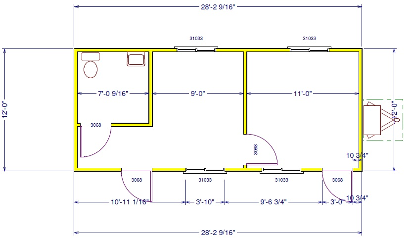 Office trailer layouts api trailers for 12x40 mobile home floor plans
